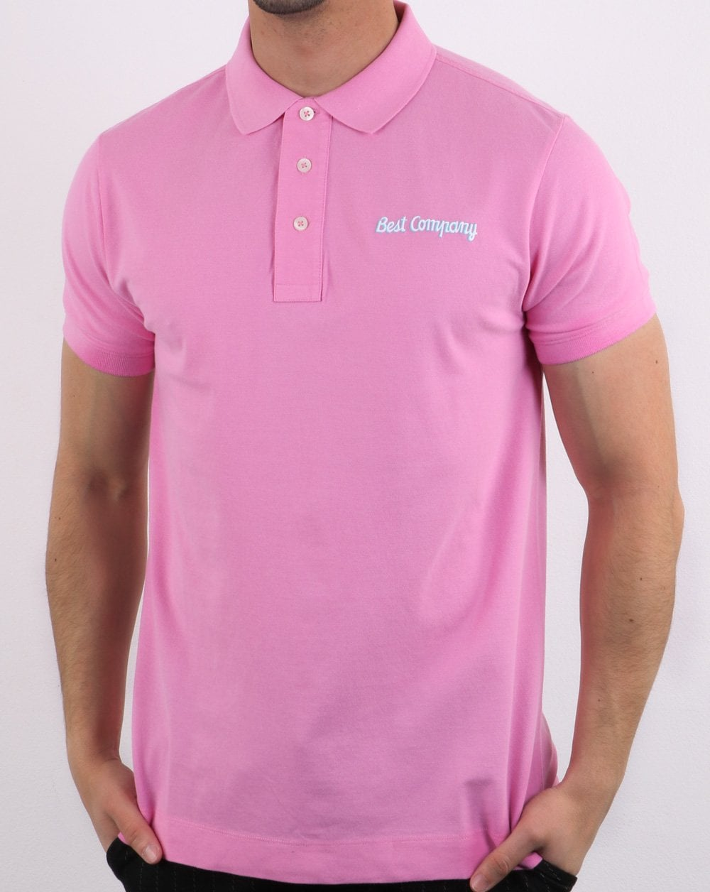 Best Company Pique Polo Shirt Pink
