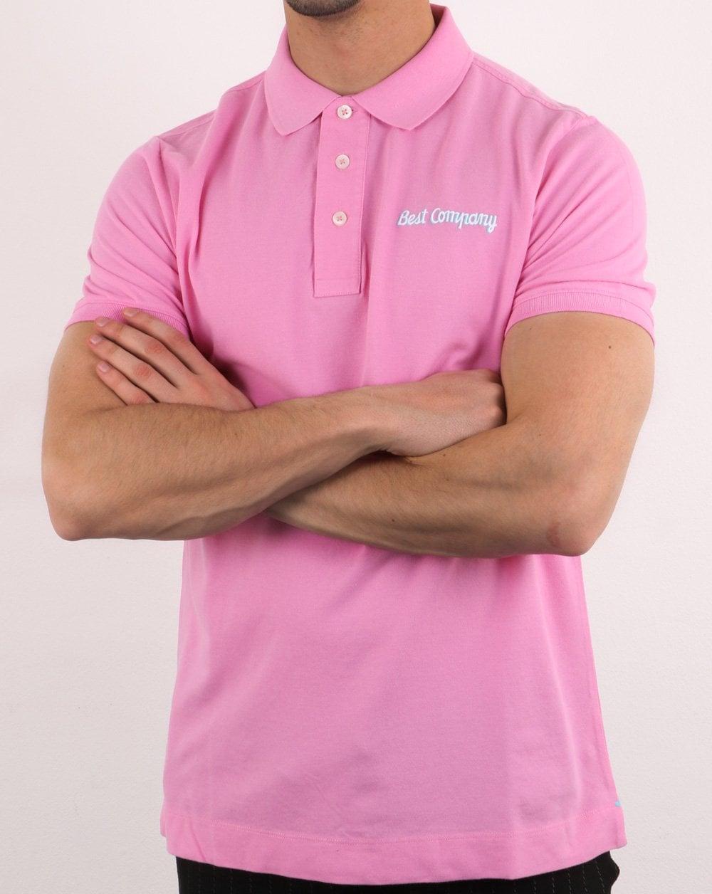 f1a246c1e Best Company Pink Polo Shirt | 80s Casual Classics