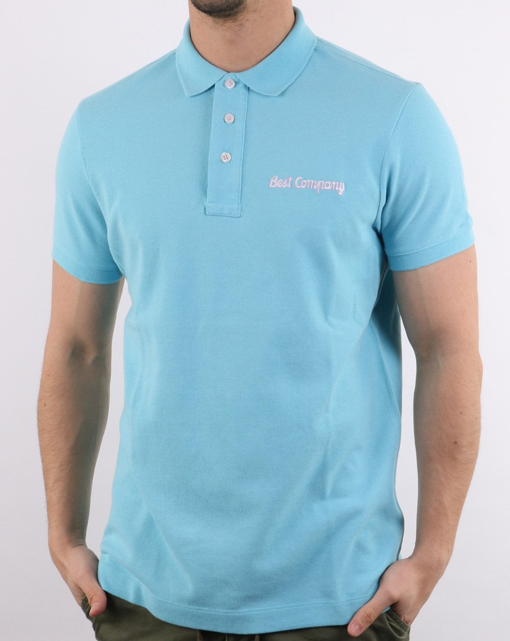 Best Company Pique Polo Shirt Sky