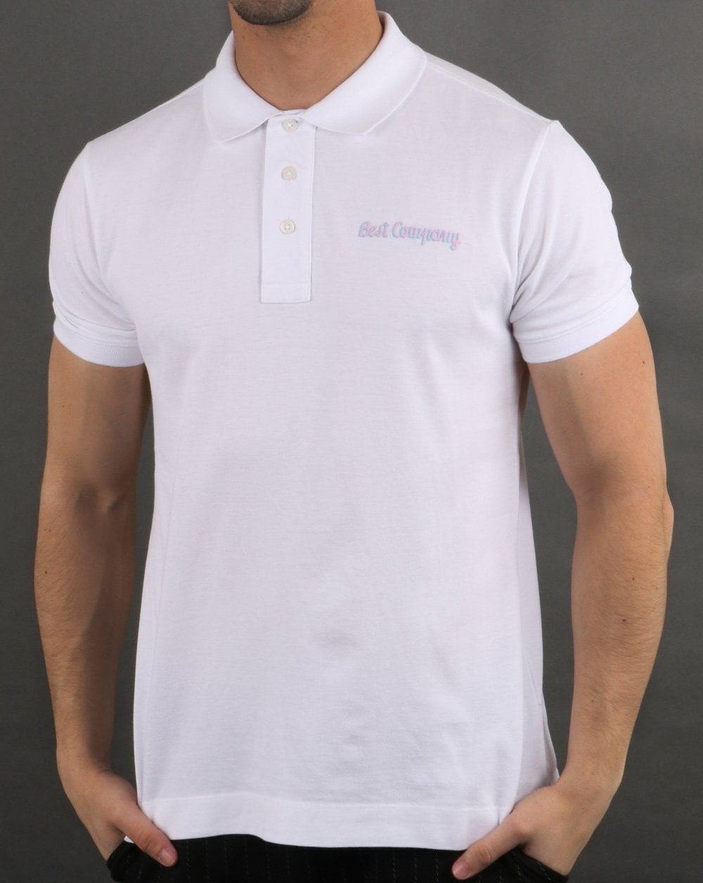 bf218d934 Best Company Best Company Pique Polo Shirt White