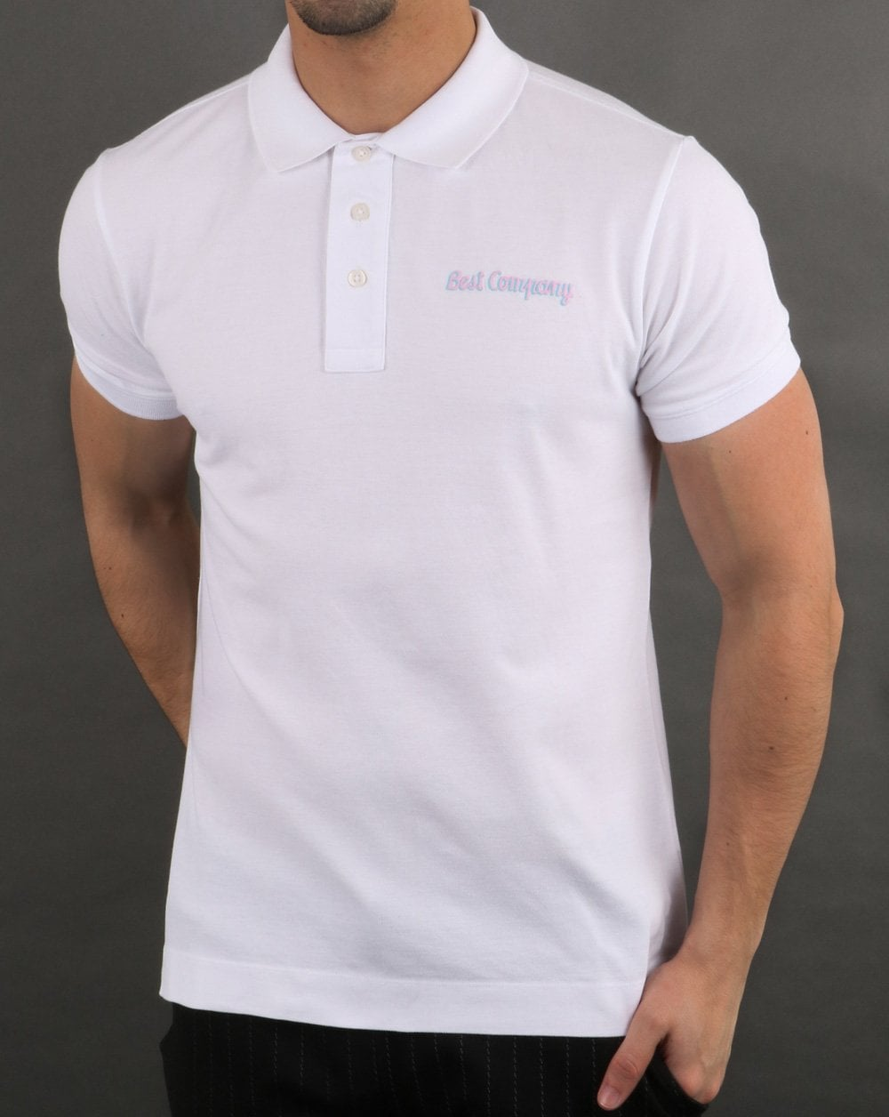 Best Company Pique Polo Shirt White