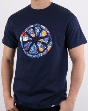 72061a0d3094 80s Casual Classics Casuals - Jackson Roses No.5 T-shirt Navy