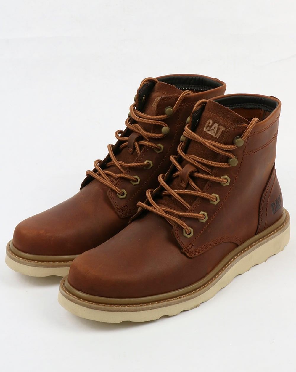 Caterpillar Chronicle Leather Boots Brown Rugged Durable Shoes