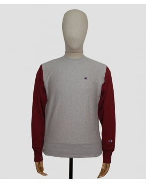 Champion Champion Reverse Weave Crew Neck Sweatshirt Grey/burgundy