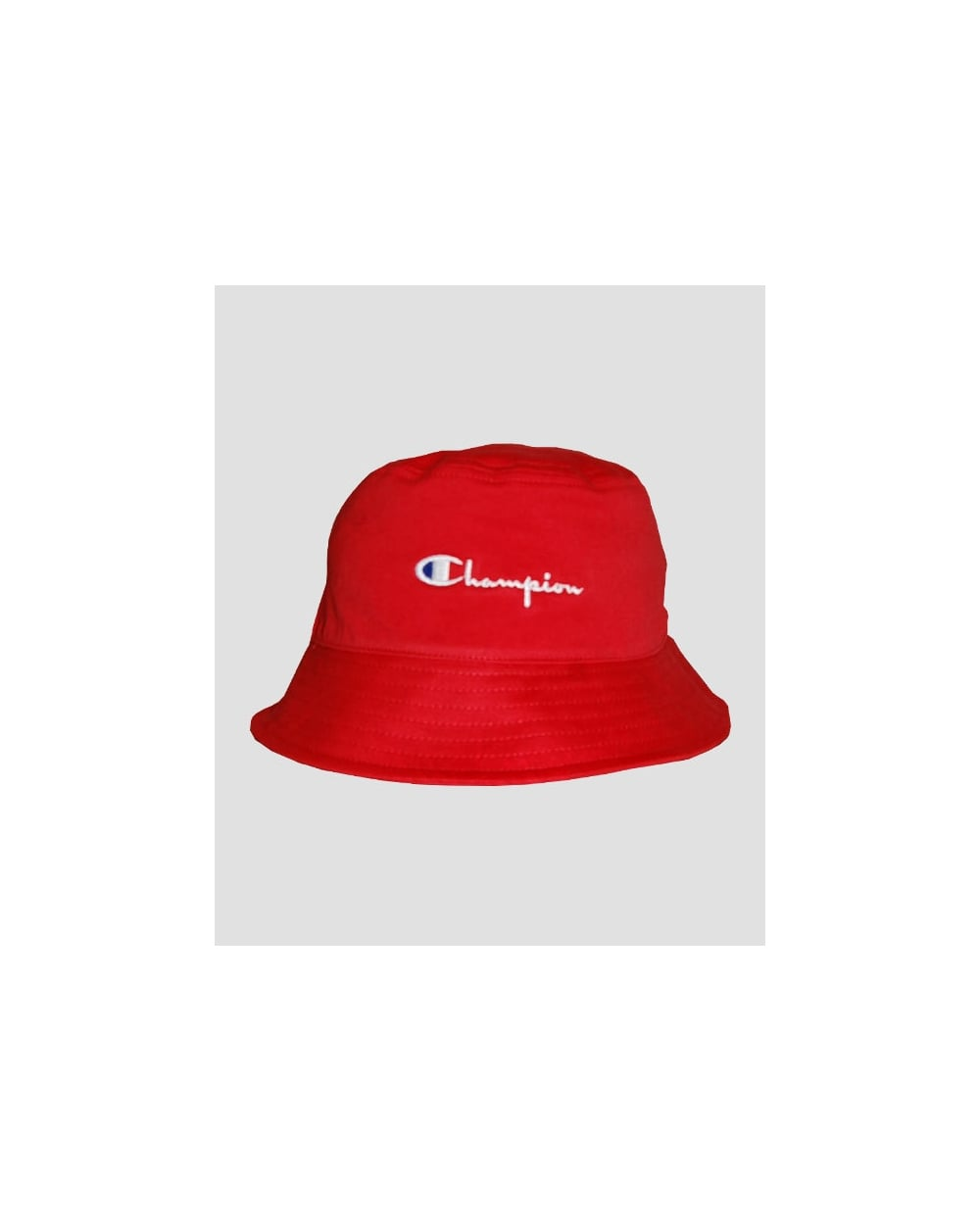 915ad75bc Champion Cotton Twill Bucket Hat Red - Hats And Caps from 80s Casual ...
