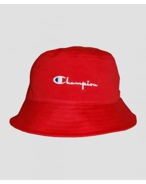Champion Cotton Twill Bucket Hat Red