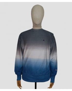 Champion Dip Dyed Sweatshirt Navy/white/blue