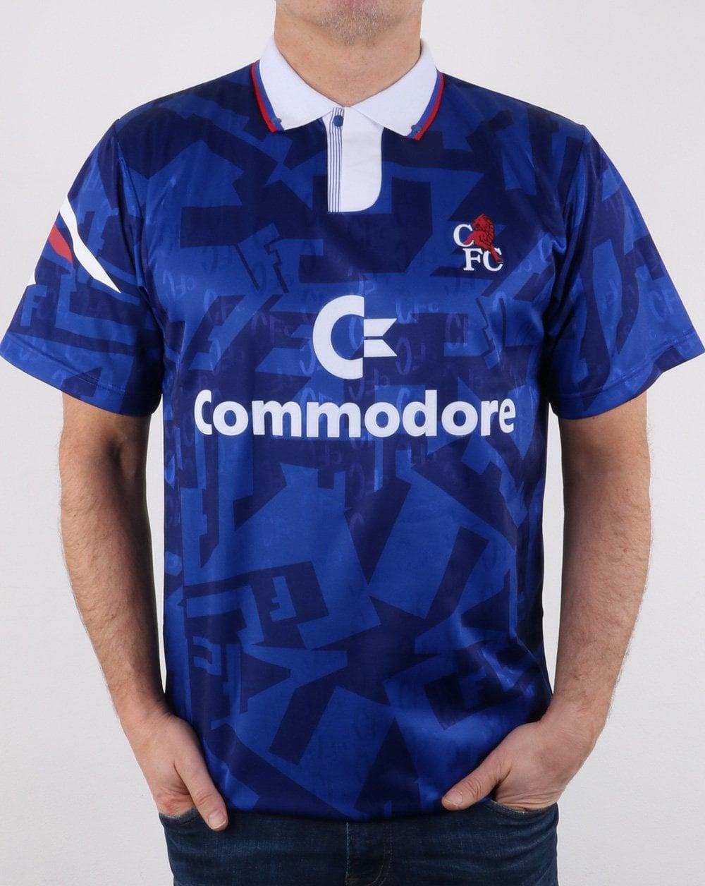newest 89224 3d223 Chelsea 1992 Football Shirt Blue
