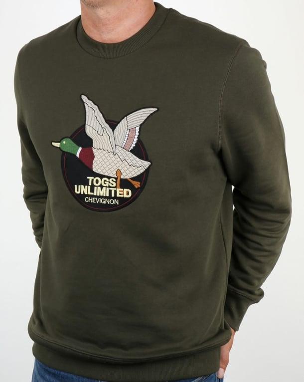 Chevignon Unlimited Sweatshirt Olive Green