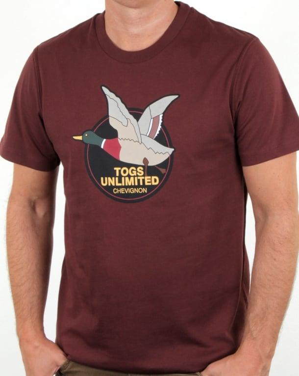 Chevignon Unlimited T Shirt Burgundy