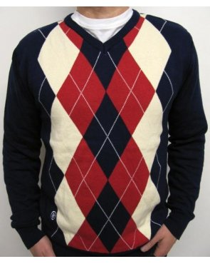 Circa 81 Argyle Icon Knit Navy/Cream/Red