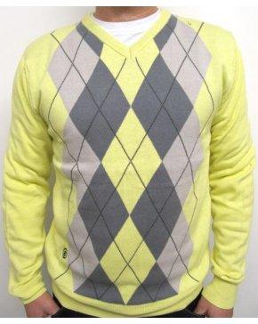 Circa 81 Argyle Icon Knit Yellow/Charcoal/Grey