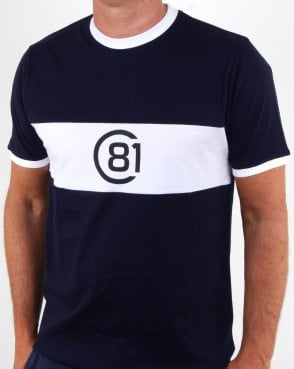 Circa 81 Bold Stripe T Shirt Navy/white