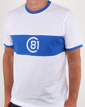 Circa 81 Bold Stripe Tribute T Shirt White/royal