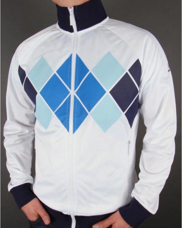 Circa 81 Diamond Track Jacket White/Navy/Blue
