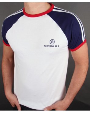 Circa 81 Raglan Ringer T-shirt White/Navy/Red