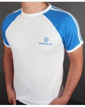 Circa 81 Raglan Ringer T-shirt White/Royal Blue