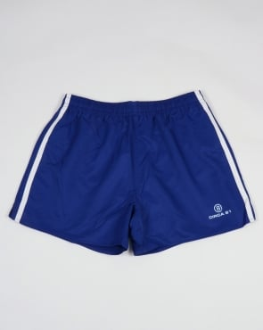 Circa 81 Retro Sports Shorts Royal Blue/White
