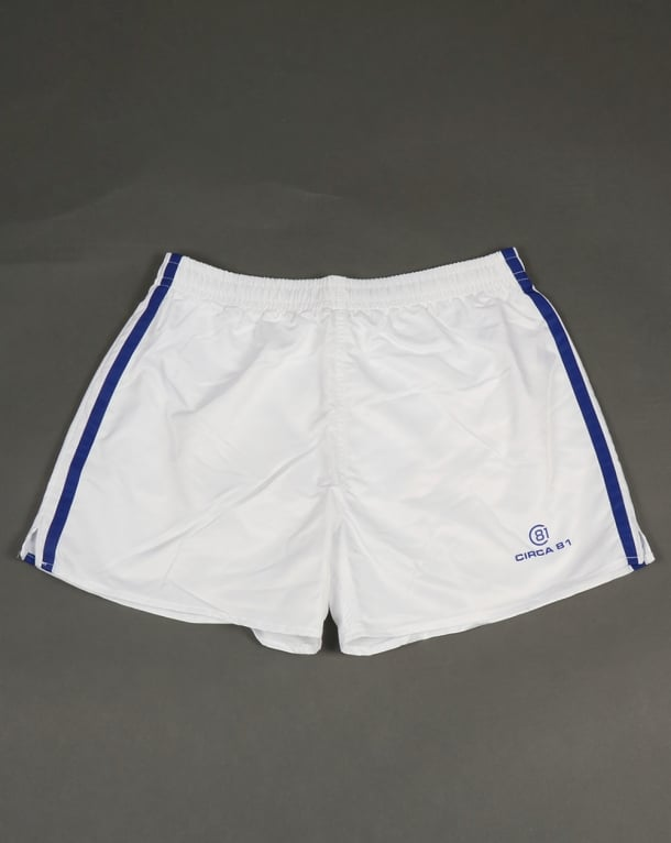 Circa 81 Retro Sports Shorts White/Royal Blue