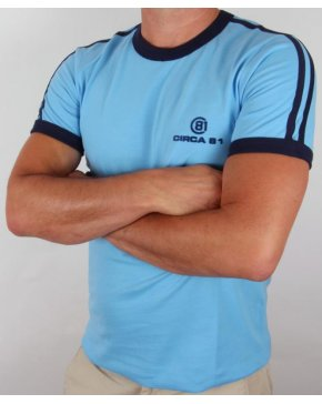 Circa 81 Ringer T-shirt Sky Blue/Navy