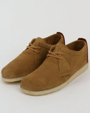 Clarks Originals Ashton Suede Shoes Oak