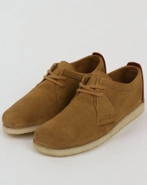 Clarks Originals Ashton Suede Shoes Oak