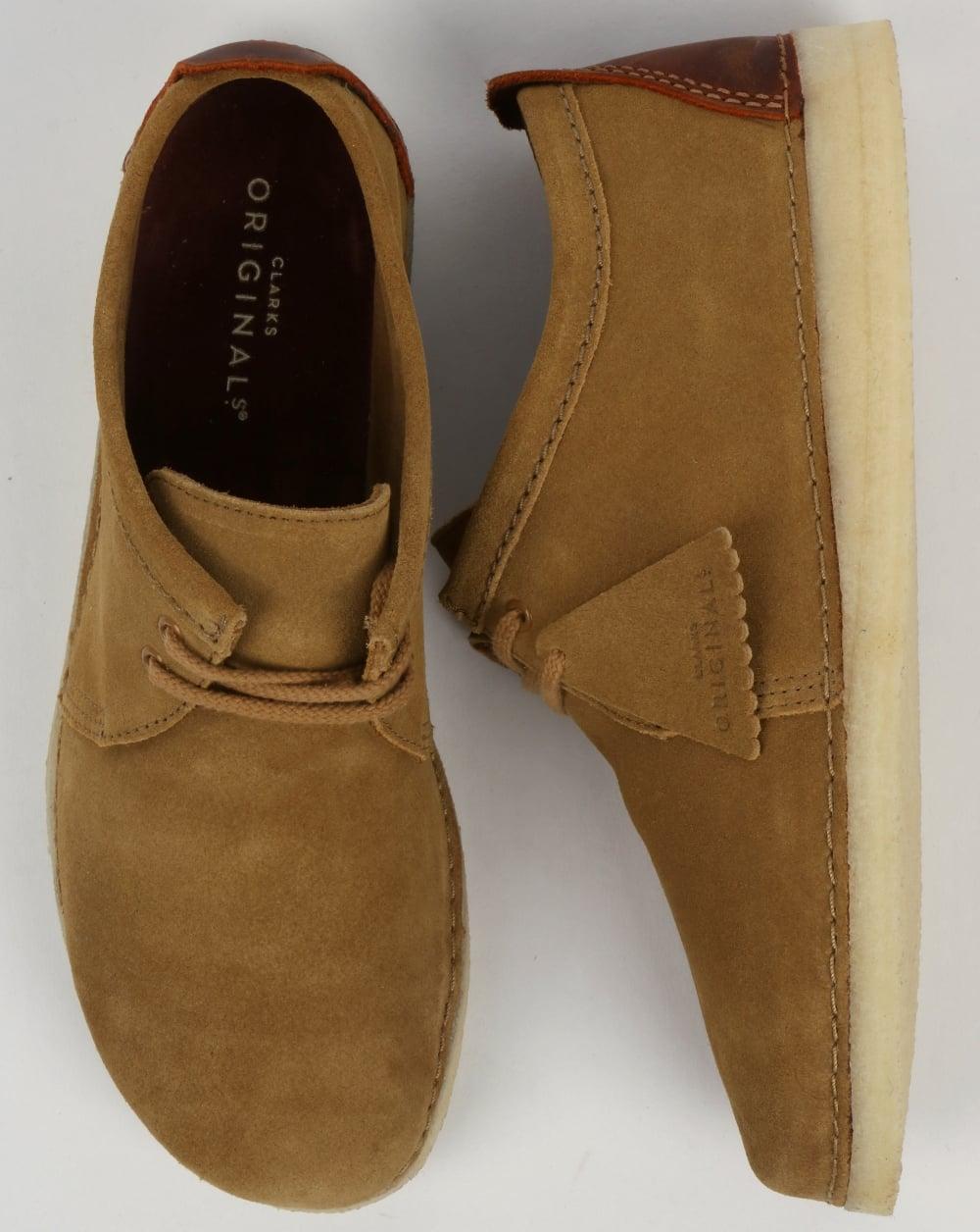 a5fda28b4b505 Clarks Originals Ashton Suede Shoes Oak, tan | 80s casual classics
