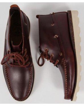Clarks Originals Dakin Deck Boots Mahogany
