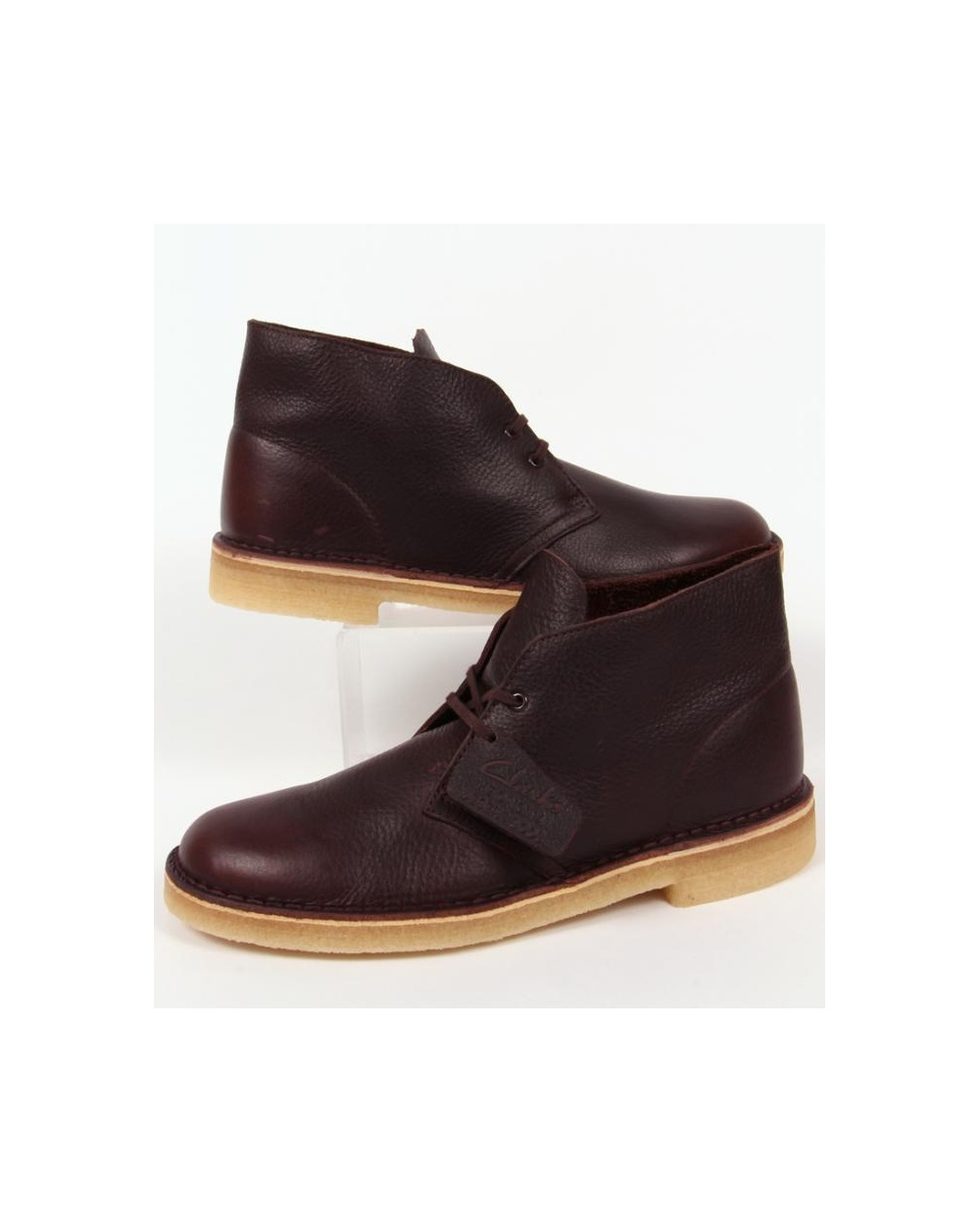 74eb1ab98f8b5 Clarks Originals Desert Boot In Leather Brown Tumbled Leather ...