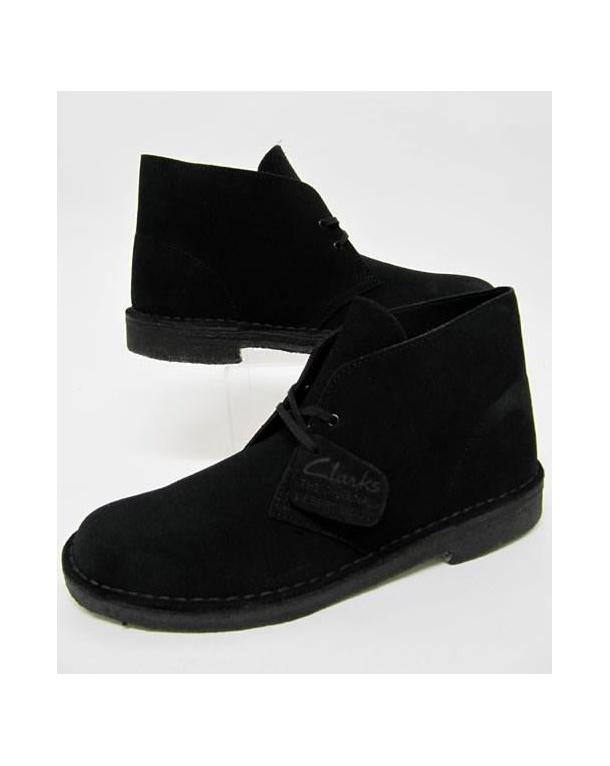 clarks originals desert boot in suede black clarks