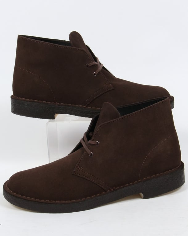 Clarks Originals Desert Boot In Suede Brown