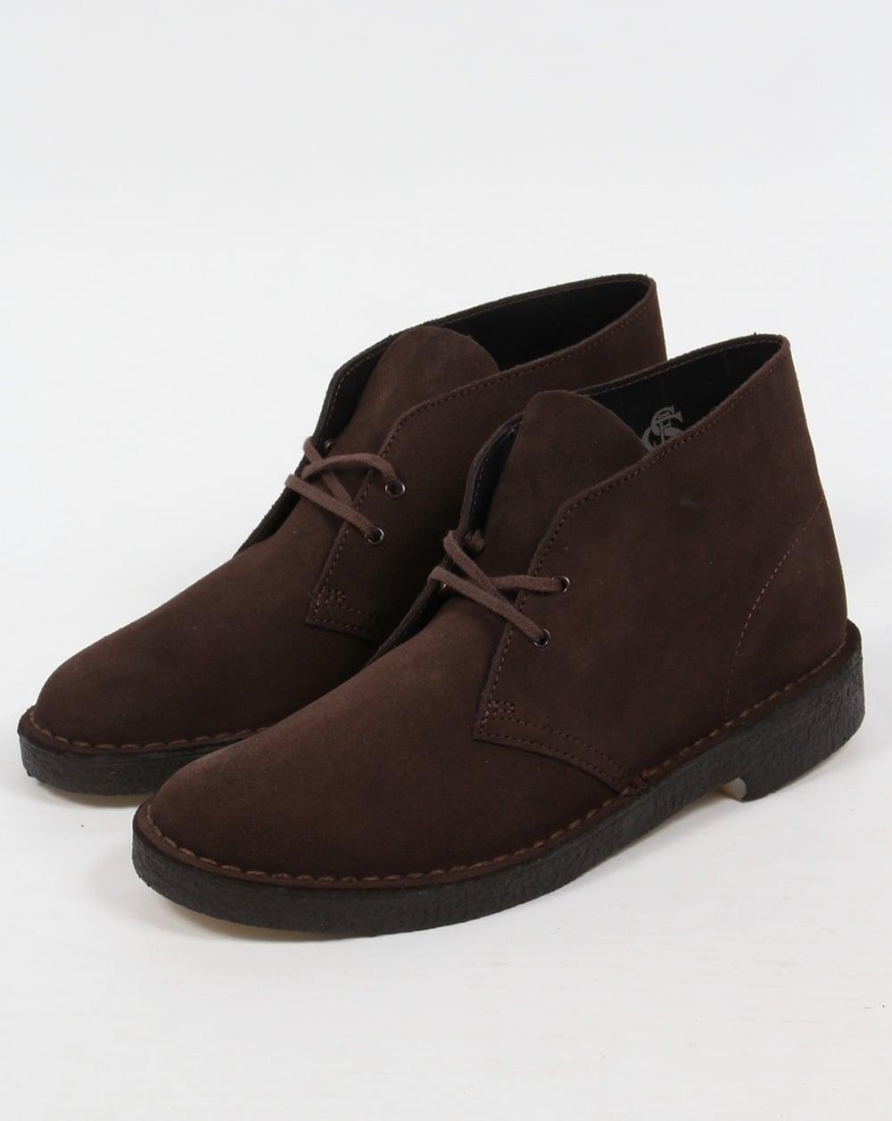 clarks originals desert boot in suede brown