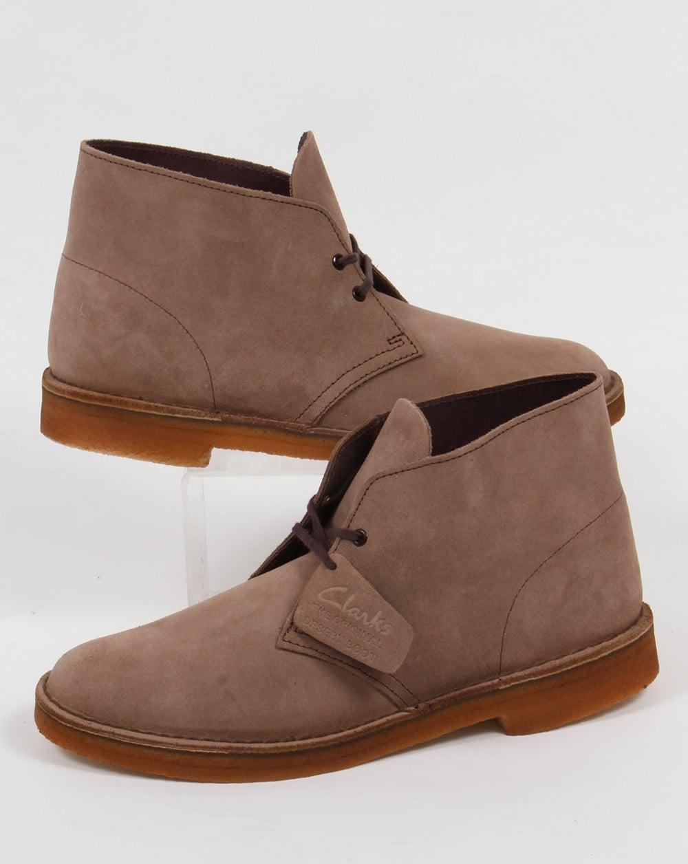 clarks originals desert boot in suede wolf grey shoes mens. Black Bedroom Furniture Sets. Home Design Ideas