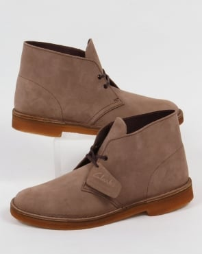 Clarks Originals Desert Boot In Suede Wolf Grey