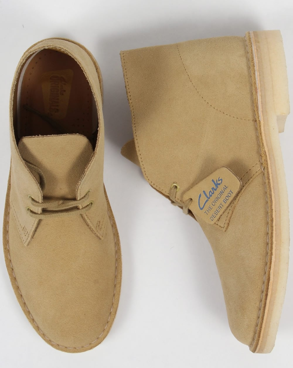 1274e996b27 Clarks Originals Desert Boot Maple Suede