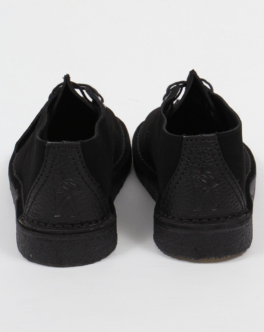 bc869385da Clarks Originals Desert Trek Shoes In Suede Black