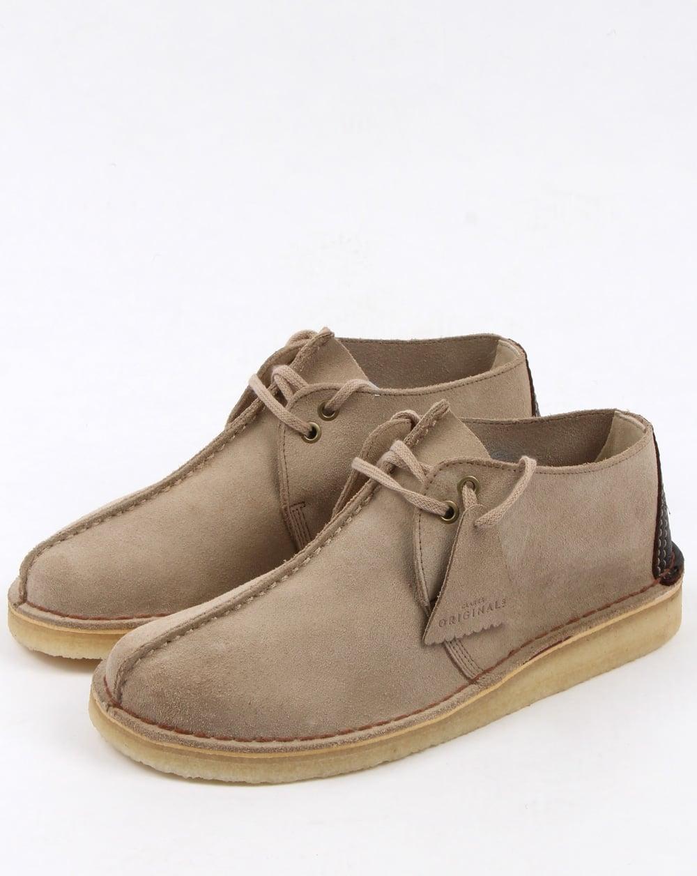 bdb27a8db427 Clarks Originals Clarks Originals Desert Trek Suede Shoes Sand
