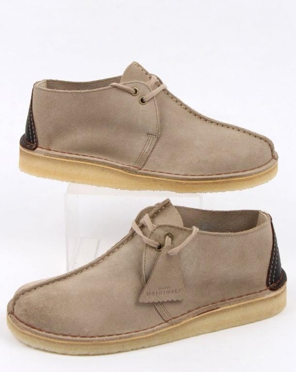 Clarks Originals Desert Trek Suede Shoes Sand