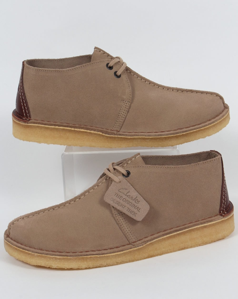 c5d1fb76 Clarks Originals Desert Trek Suede Shoes Sand