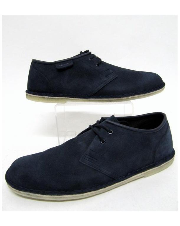 Clarks Originals Jink Shoe In Suede Navy
