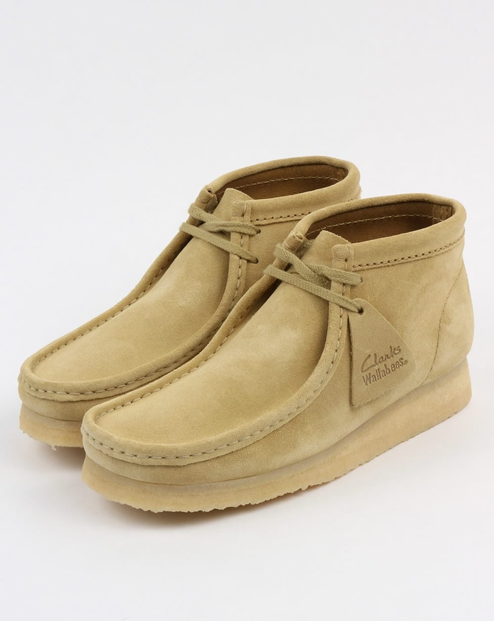 Clarks Low Suede Wallabee Moccasins Vente Pas Cher Authentique Jeu Confortable A7eO6N8