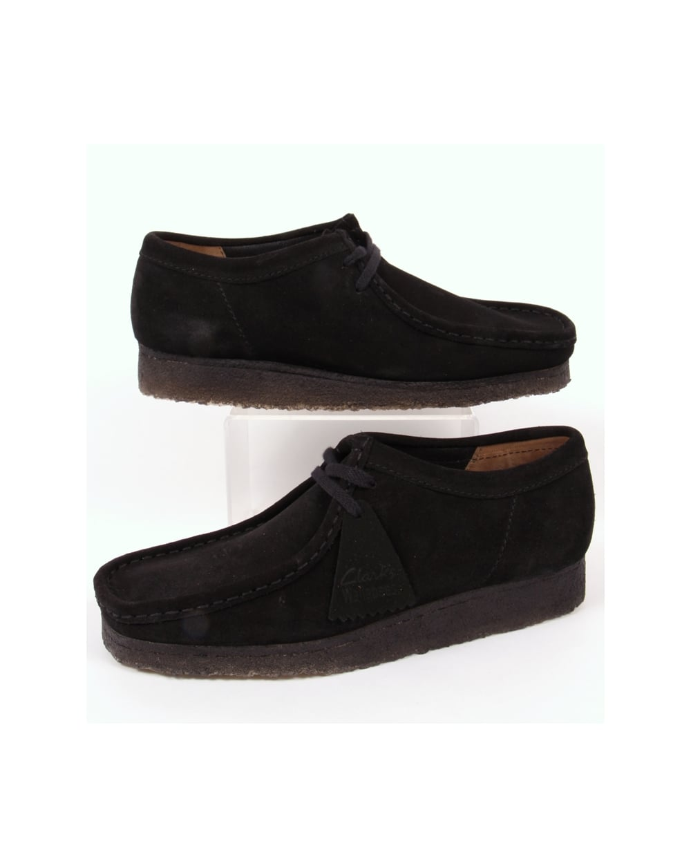 Clarks Originals Wallabee Shoe In Suede Black Clarks 28