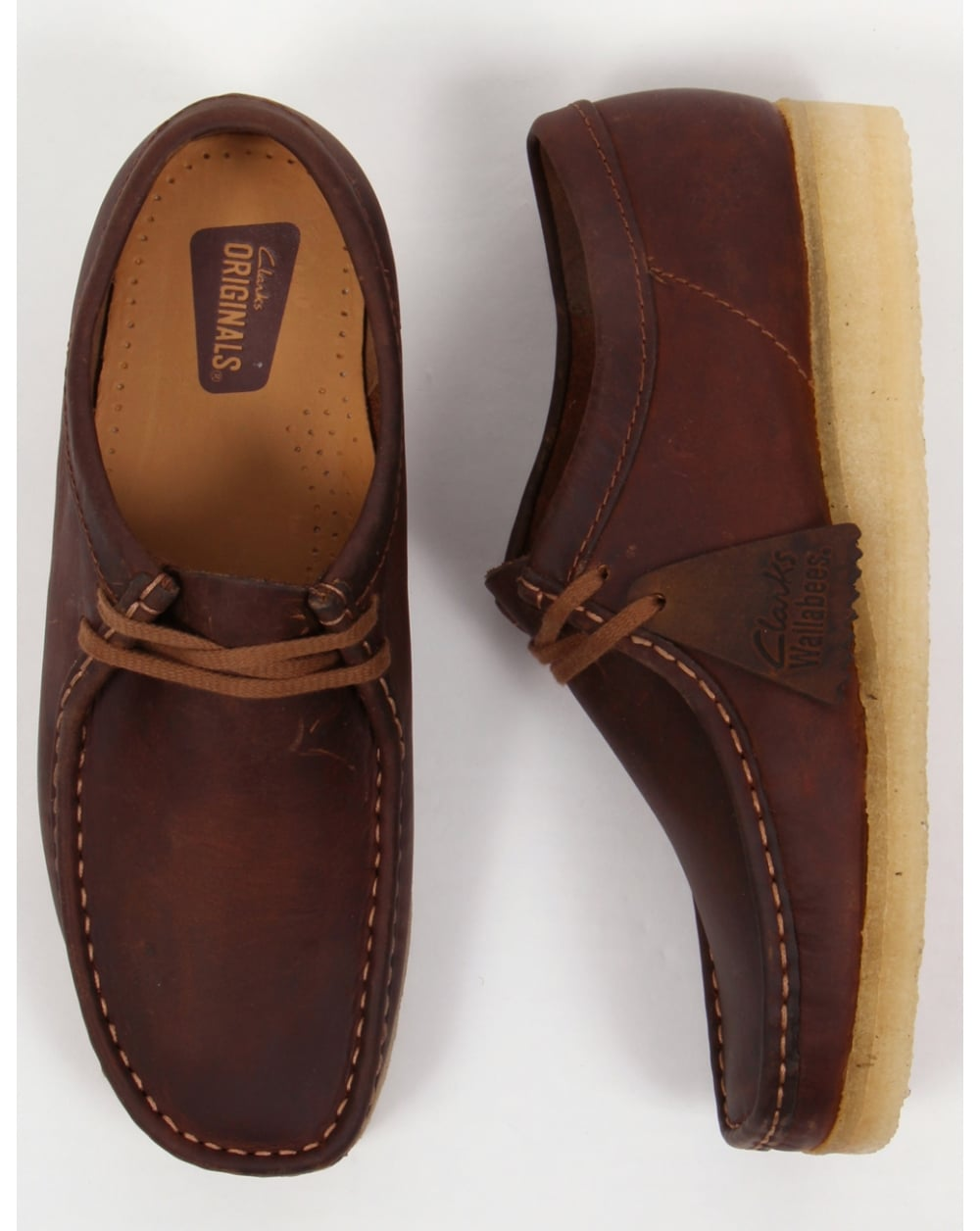 b523c71c22f Clarks Originals Wallabee Shoes Beeswax,ridge,leather