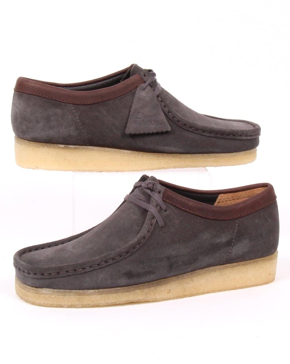 cea830d02 Clarks Originals Clarks Originals Wallabee Shoes Charcoal Suede