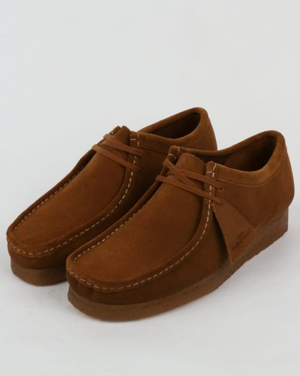 Clarks Originals Wallabee Shoes Cola Suede