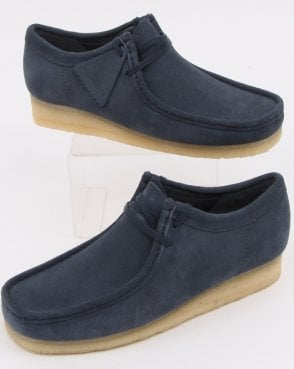 581b26ecf6d Clarks Originals Wallabee Shoes Deep Blue