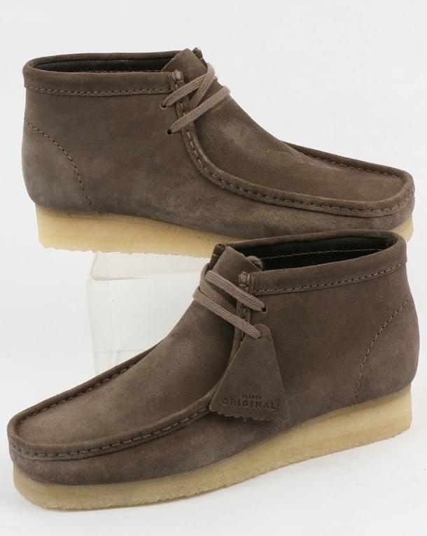 Clarks Originals Wallabee Suede Boots Grey
