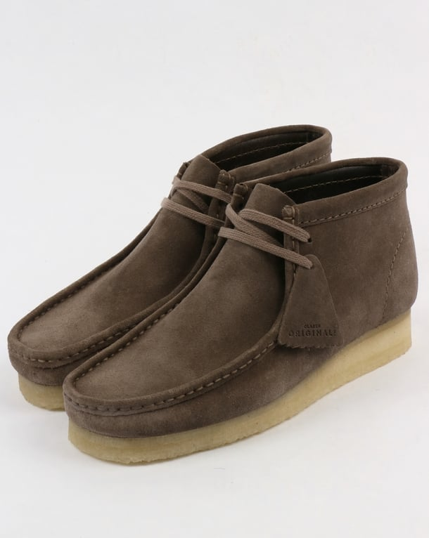 Clarks Originals Wallabee Suede Boots Grey