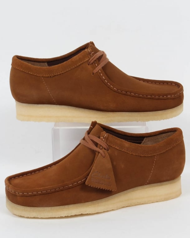 Clarks Originals Wallabee Suede Shoes Cola