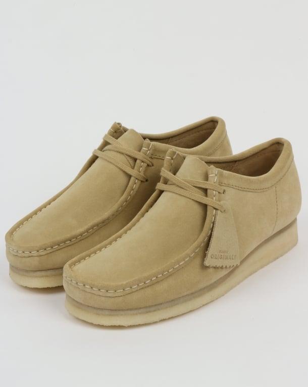 Clarks Originals Wallabee Suede Shoes Maple